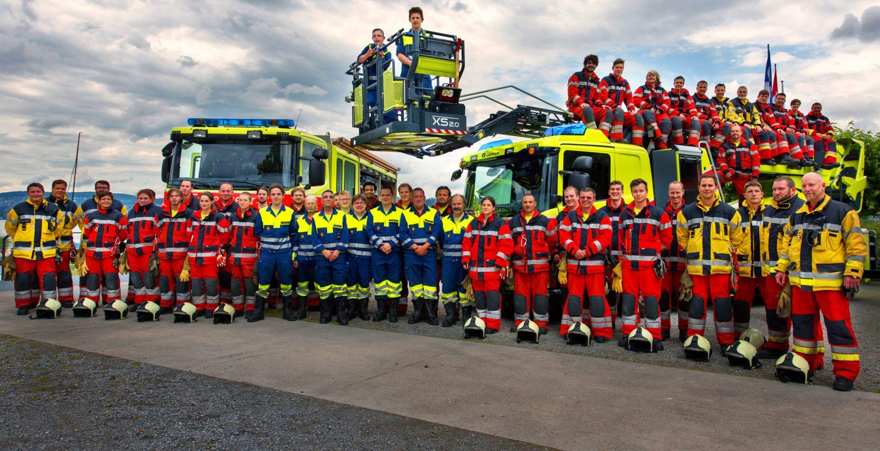 Feuerwehr Kilchberg Rueschlickon Teamfoto
